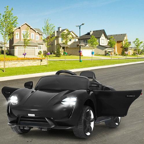 12V Kids Ride On Car with MP3 & LED Light-Black