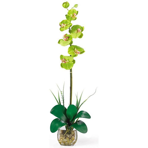 Single Phalaenopsis Liquid Illusion Silk Flower Arrangement