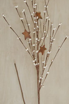 Ivory Pip & Star Spray 24""