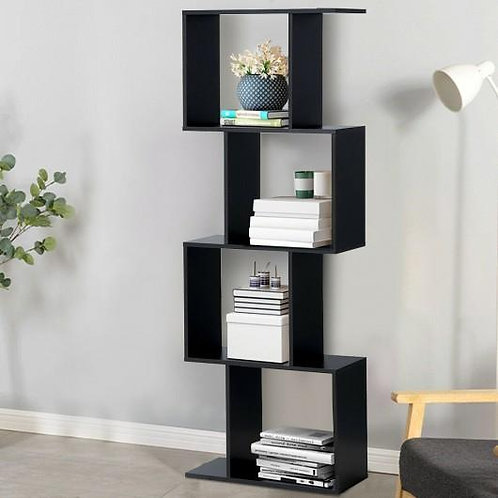 4-tier S-Shaped Bookcase