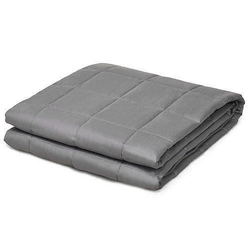 12 lbs Weighted Blankets 100% Cotton with Glass Beads-Dark Gray