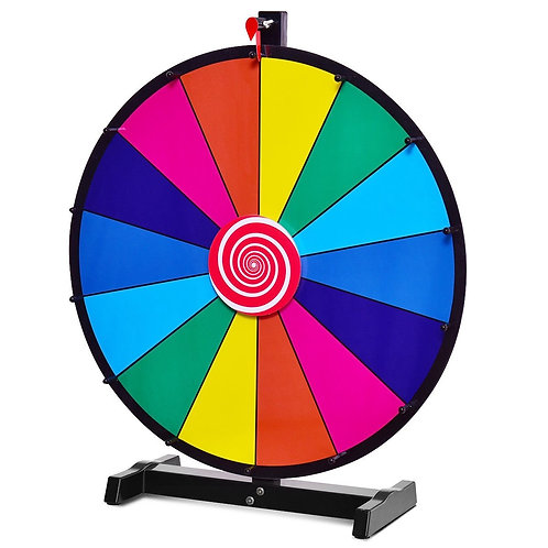 """24"""" Editable 14 Slot Fortune Spinning Game Tabletop"""