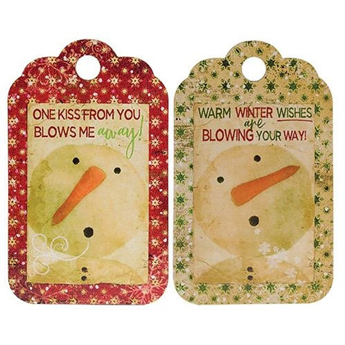 *Winter Wishes Tag Sign 2 Asst.