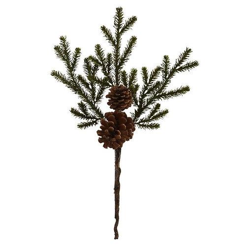 "19"" Pine & Pinecone Artificial Flower Bundle (Set of 12))"