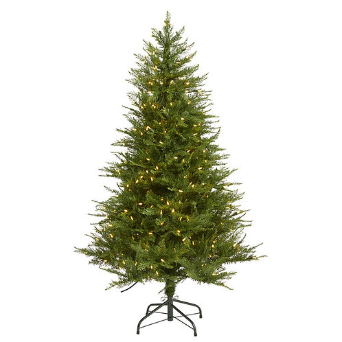5' Wisconsin Fir Artificial Christmas Tree with 250 Warm White LED Lights