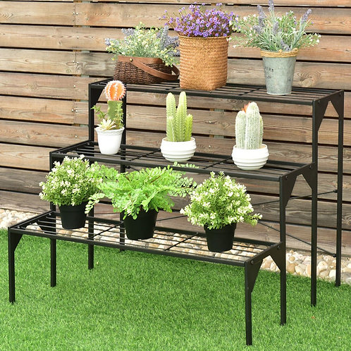 3 Tier Heavy Duty Modern Plant Display Stand Rack