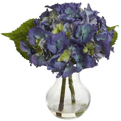 Blooming Hydrangea w/Vase Arrangement