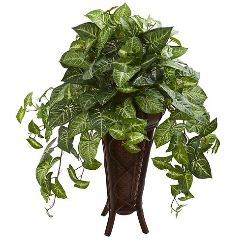 Nepthytis Artificial Plant in Stand Planter