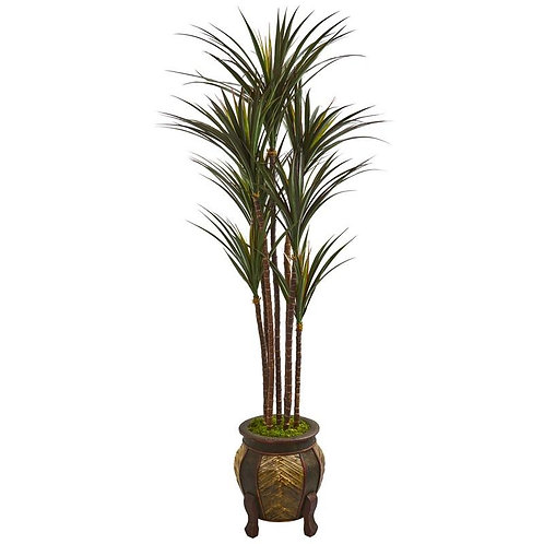 """62""""  Giant Yucca Artificial Tree in Decorative Planter UV Resistant"""