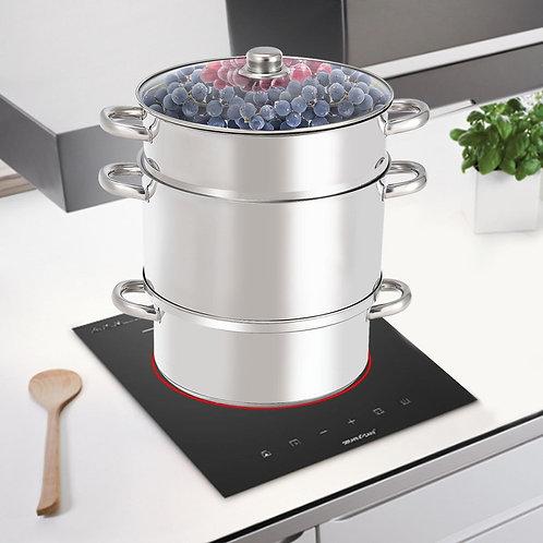 11-Quart Stainless Steel Fruit Juicer Steamer