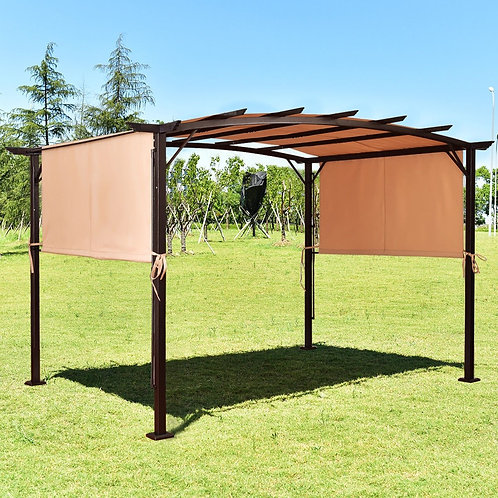 6.7' x 17' Pergola Structure Universal Replacement Canopy Cover