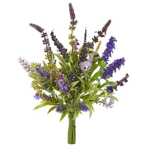 """15""""  Lavander Artificial Flower Bouquet (Set of 3)"""