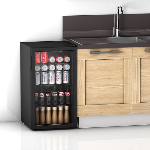 120 Can Beverage Mini Refrigerator w/ Glass Door