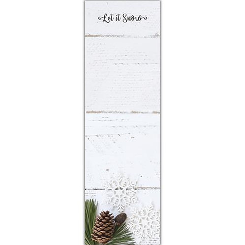 Let It Snow Pinecone Notepad