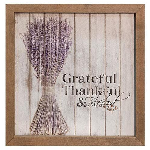"""*Grateful Framed Shiplap Sign 10"""""""