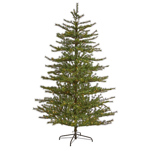 7' Vancouver Mountain Pine Artificial Christmas Tree with 450 Clear Lights