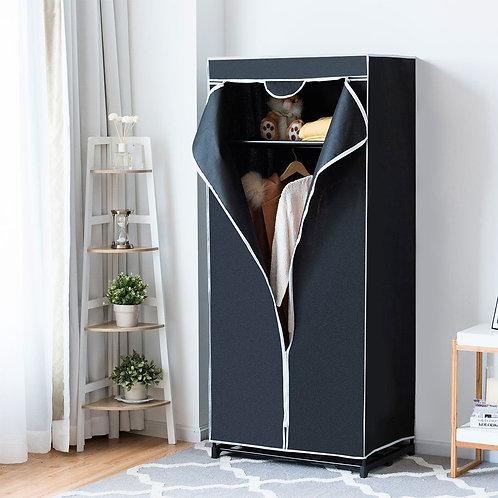 Non-woven Fabric Wardrobe Storage Portable Clothes Closet-Black