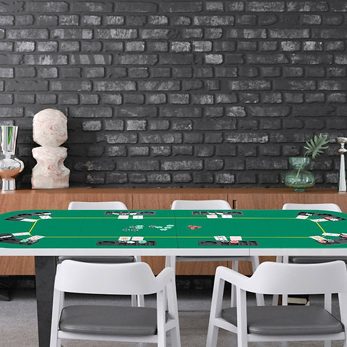 """80"""" x 36"""" Folding 8 Player Deluxe Texas Poker Table Top with Bag"""