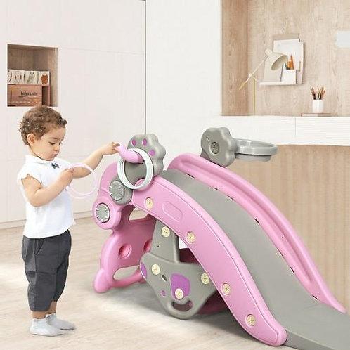 4-in-1Baby Rocking Horse Slide Set-Pink