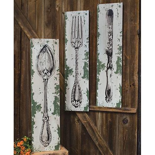 *Knife Fork Spoon Sign - 3 asst.