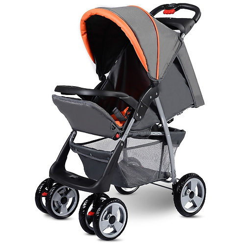Baby Kids Travel Stroller Newborn Infant Buggy Pushchair Child 3 color-Gray