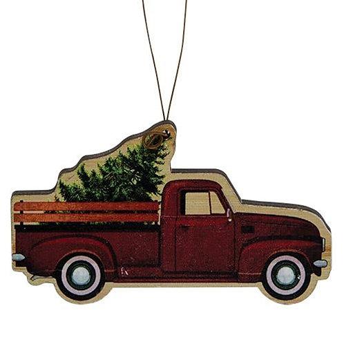 Fresh Cut Tree Truck Ornament