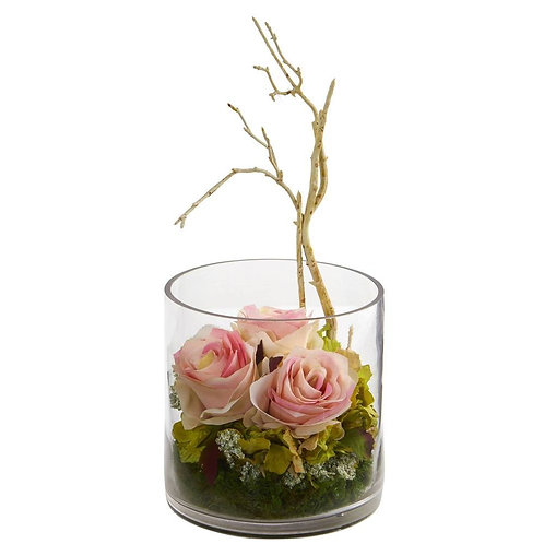 Roses & Hydrangeas Artificial Arrangement