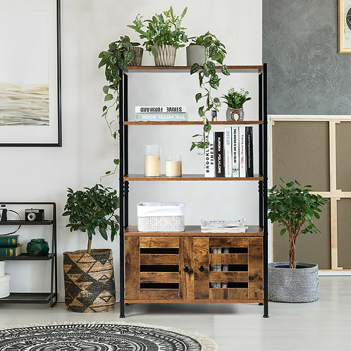 Industrial Storage Shelf w/2 Shutter Doors