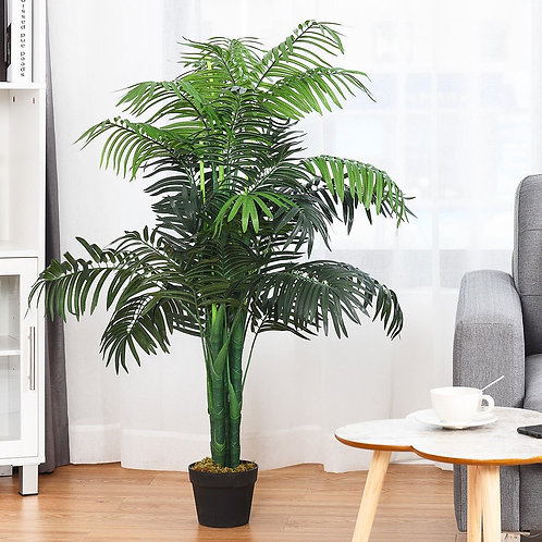 3.5 ft Artificial Areca Palm Decorative Silk Tree with Basket