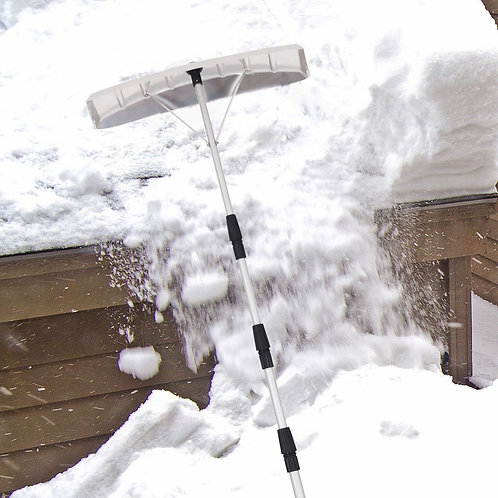 21 ft Aluminum Large Poly Blade Telescoping Snow Roof Rake