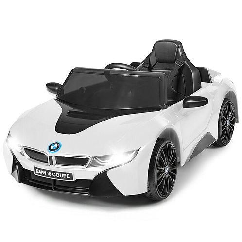 12V Licensed BMW I8 Kids Ride On Car-White