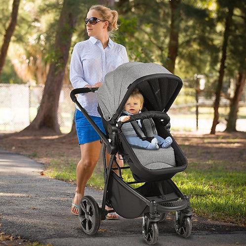 2-in-1 Folding Aluminum Buggy Newborn Travel Baby Stroller-Gray