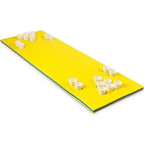 "5.5' x 23.5"" 3-Layer Multi-Purpose Floating Beer Pong Table-Yellow"