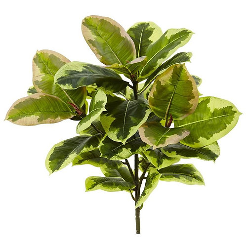"""23"""" Rubber Leaf Artificial Plant (Real Touch) (Set of 3)"""