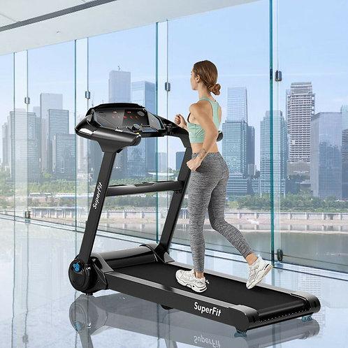 2.25HP Folding Running Treadmill W/ LED Touch Display-Black