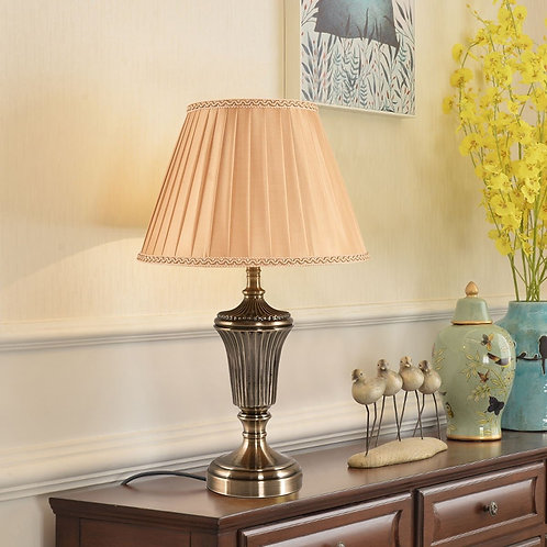 "13"" Antique Brass LED Bulb Table Lamp"
