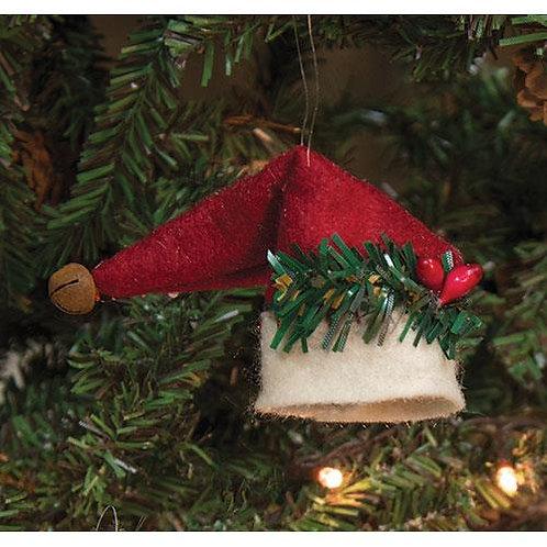 *6/Set Santa Hat Ornaments