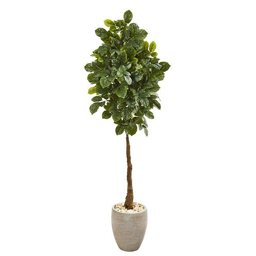 "69""  Beech Leaf Artificial Tree in Sand Colored Planter"