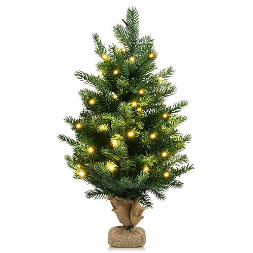 """24"""" Tabletop Fir Artificial Christmas Tree with LED Lights"""