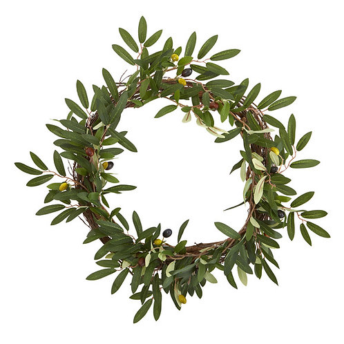 "16"" Olive Artificial Wreath"