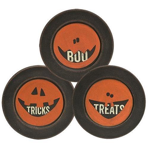 *Boo Tricks Treats Plate 3 Asst.