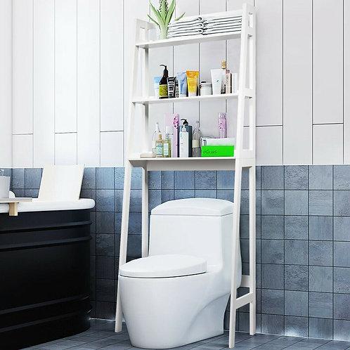 3-Shelf Over-The-Toilet Storage Organizer Rack-White