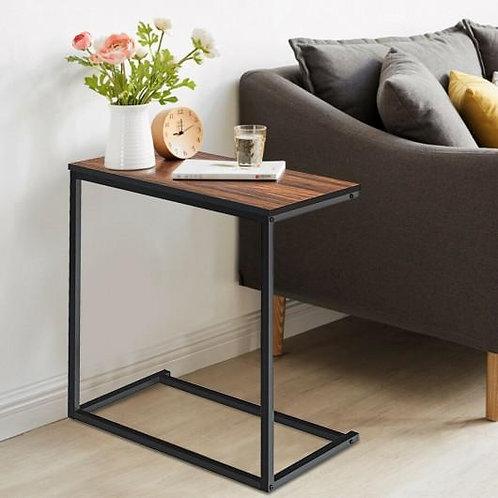 """26"""" Beside Sofa Laptop Holder End Stand Desk-Brown"""
