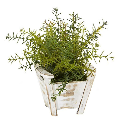 "12""  Rosemary Artificial Plant in Chair Planter"