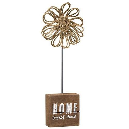 *Home Sweet Home Twine Flower