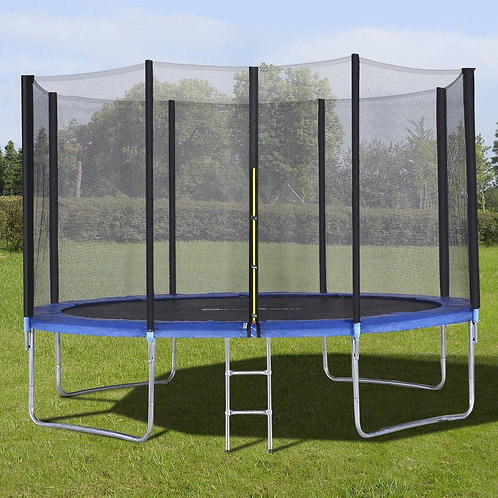 12' Trampoline with Enclosure Net Spring Pad & Ladder