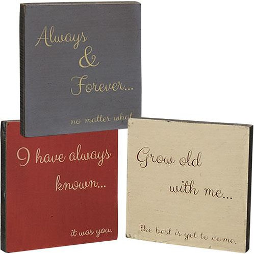 Pack of 4 *Always & Forever Mini Block 3 Asstd.