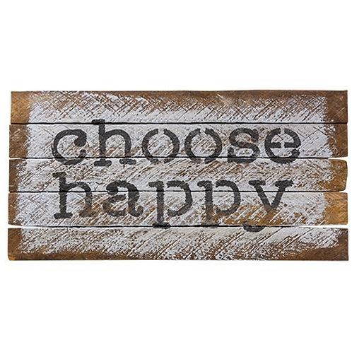 Choose Happy Lath Sign