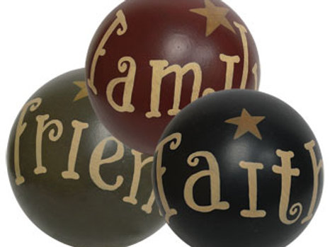Faith Family Friends w/Star Decorative Ball - Assorted
