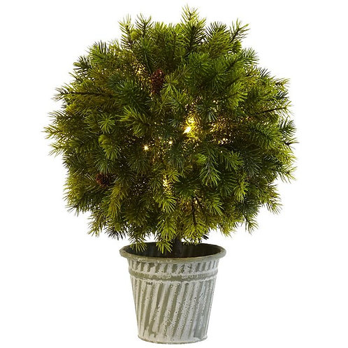 """18""""  Pine Ball in Iron Top"""
